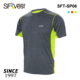 Fitness running custom two tone light-weight reflecting man's fashion breathable OEM t-shirts