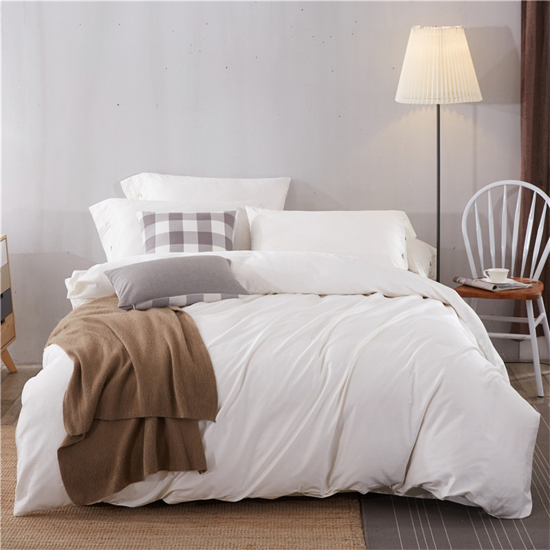 Comfortable and soft pure color 60S cotton bedding set for home
