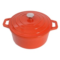 Enameled Cast-Iron casserole 5Quart Round French Oven in Flame