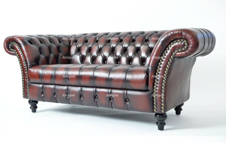 Chesterfield Sofa In Oxblood Leather Buy Chesterfield
