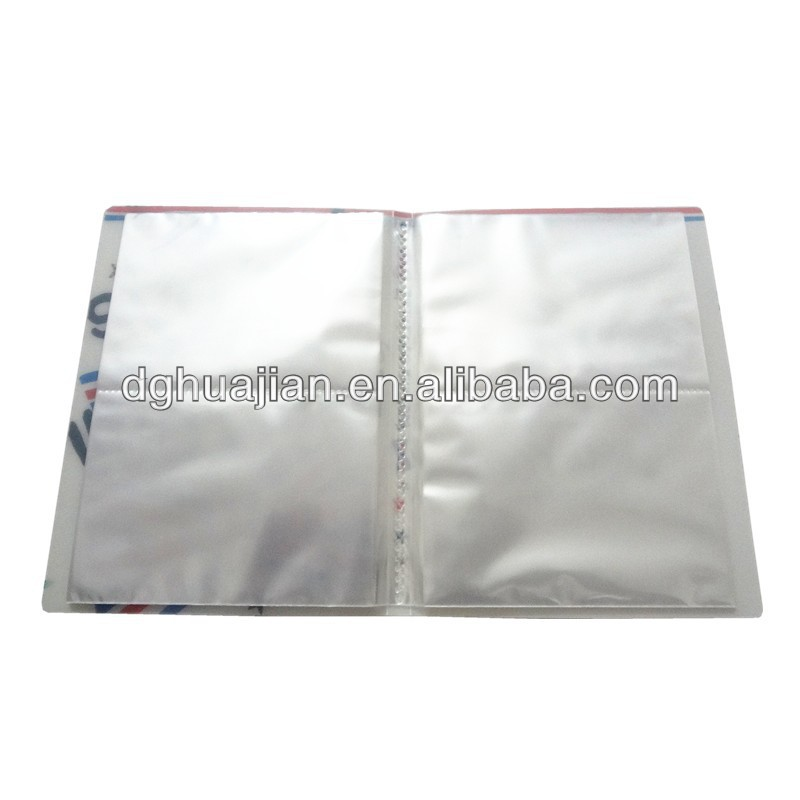PP Display Book with different pockets for paper