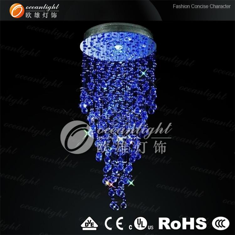 light home crystal crystals bar blue italy vintage cafe designs popular led colored for chandelier