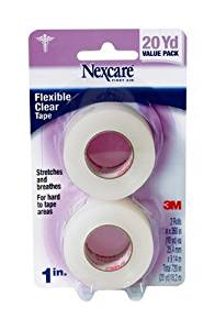 Nexcare(TM) Transpore(TM) Clear First Aid Tape, 527-P1, 1 in x 10 yds, Wrapped