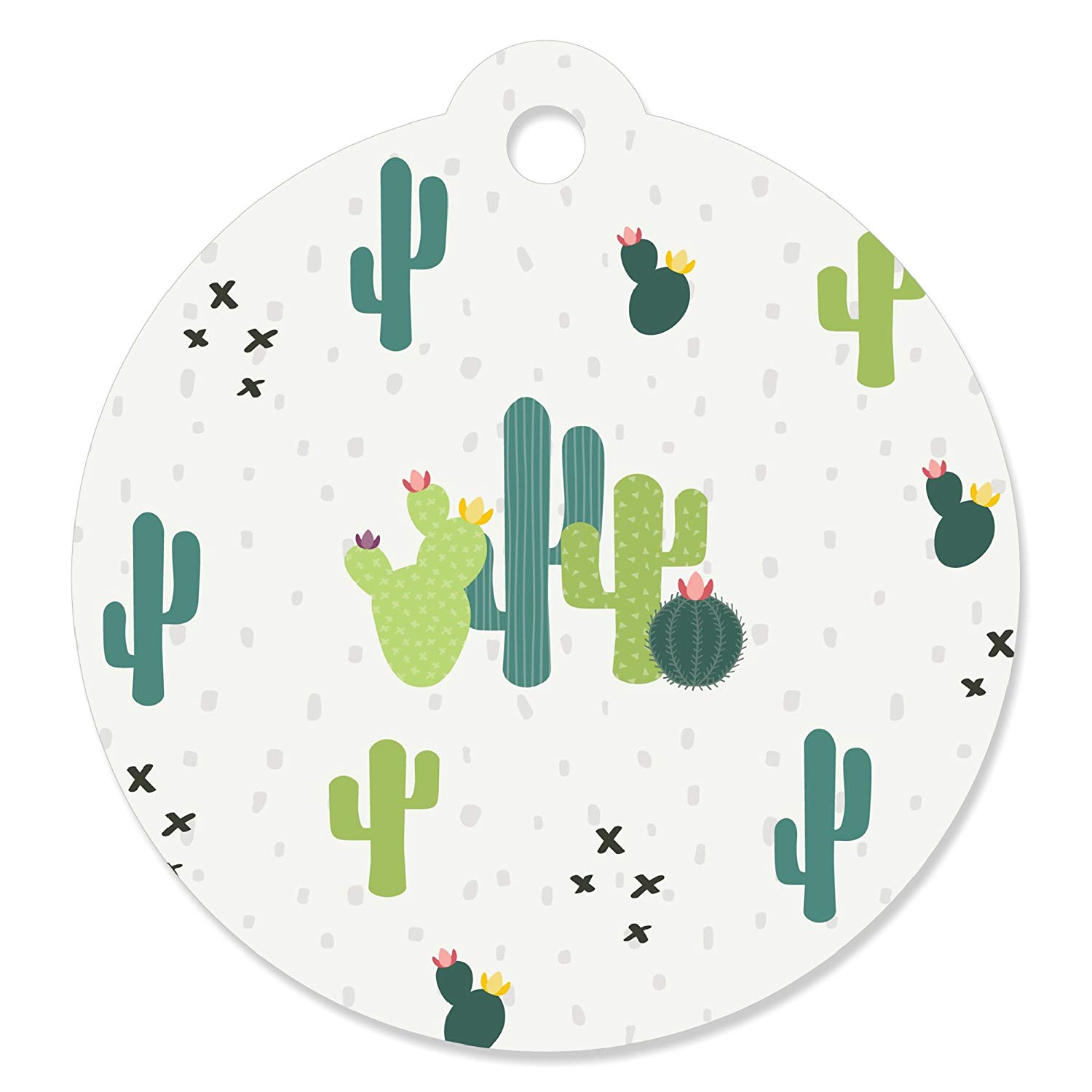 Prickly Cactus Party - Fiesta Party Favor Gift Tags (Set of 20)