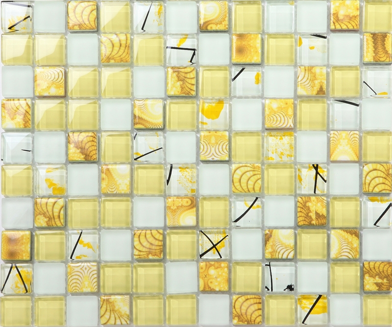 Yellow Bathroom Tile: Aliexpress.com : Buy Yellow Printed Puzzle Mosaic Tiles