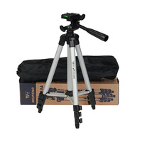 Weifeng WT3110A Tripod Aluminum With 3-Way 350mm-1020mm Universal Camera Tripod for Camera for cell phone with Free Clip