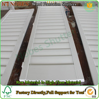 Basswood Plantation Wooden Shutter Factory Directly