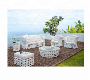 2018 Green stackable white rattan outdoor wicker patio furniture