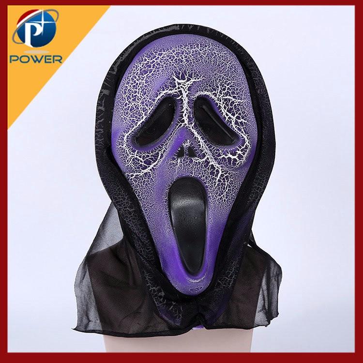 Cracking Sound Frightened Grimace Ghost Mask Mask Of Terror Skull ...