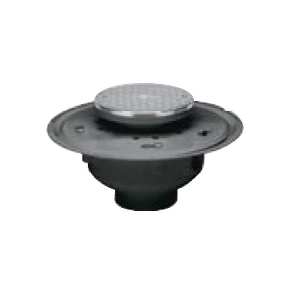 Oatey 74233 PVC Adjustable Commercial Cleanout with 6-Inch Cast CHR Cover and Round Top, 3-Inch