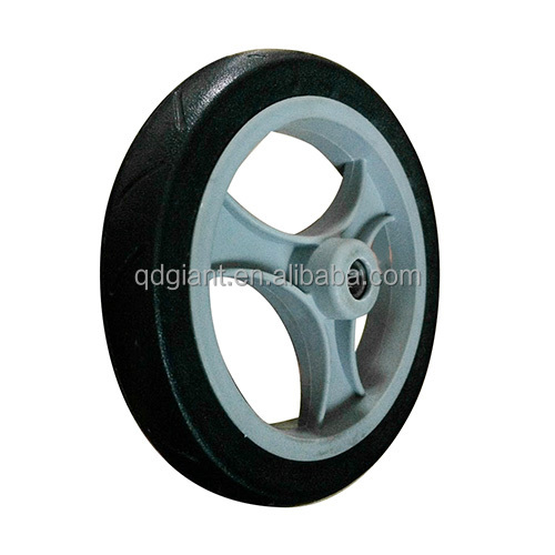 8x1.5 inch flat free wheel for baby cart