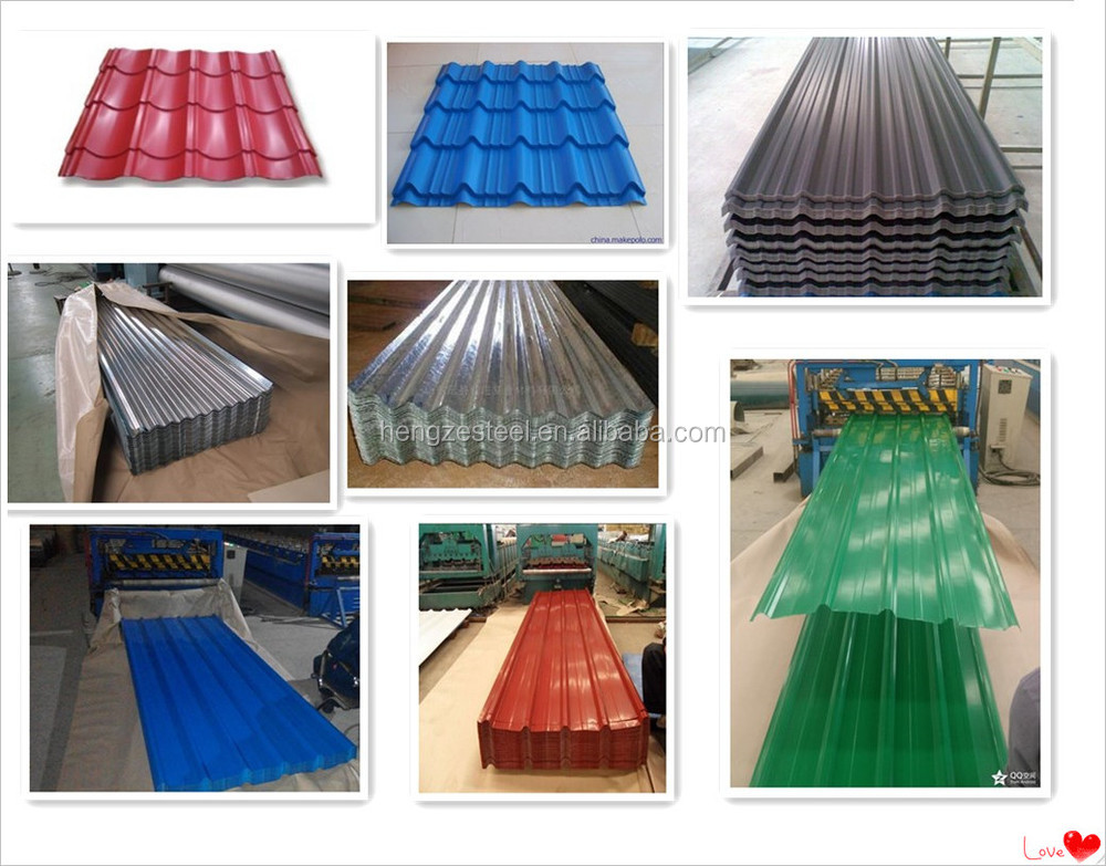 Color Corrugated Metal Roofing Sheets 22 Gauge Corrugated