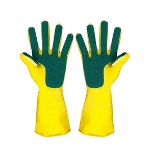 House Microfiber Latex Kitchen Hand Car Dishes Long Sleeve Cleaning Sponge Gloves