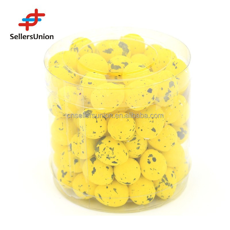 No.1 Yiwu Agent!!! 2015 Hotselling Handcraft 90pc mini yellow Easter eggs with stick for Easter Decoration