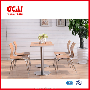 stainless steel wooden dining table for sale