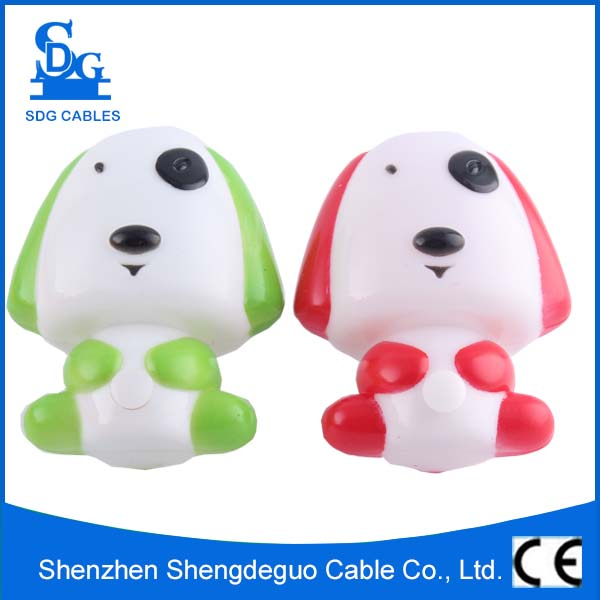 ce interruptor de ahorro de energa portable led mini forma del perro del beb lmpara de