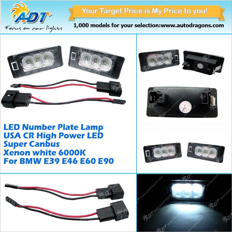 Canbus No Error Code Usa Cr Led License Plate Light For Bmw E46