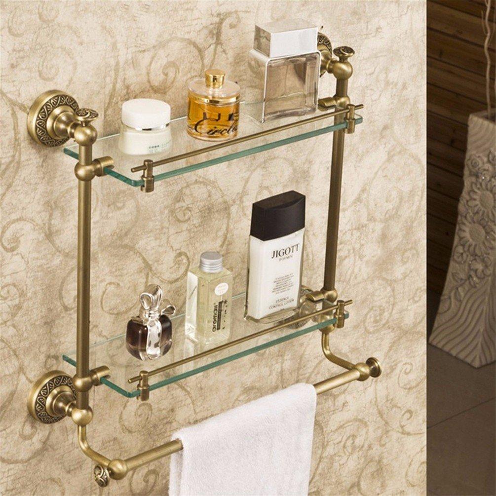 LAONA All copper antique bath towel rack towel bar dressing table Antique Bathroom Wall set item, built-in shelf 2