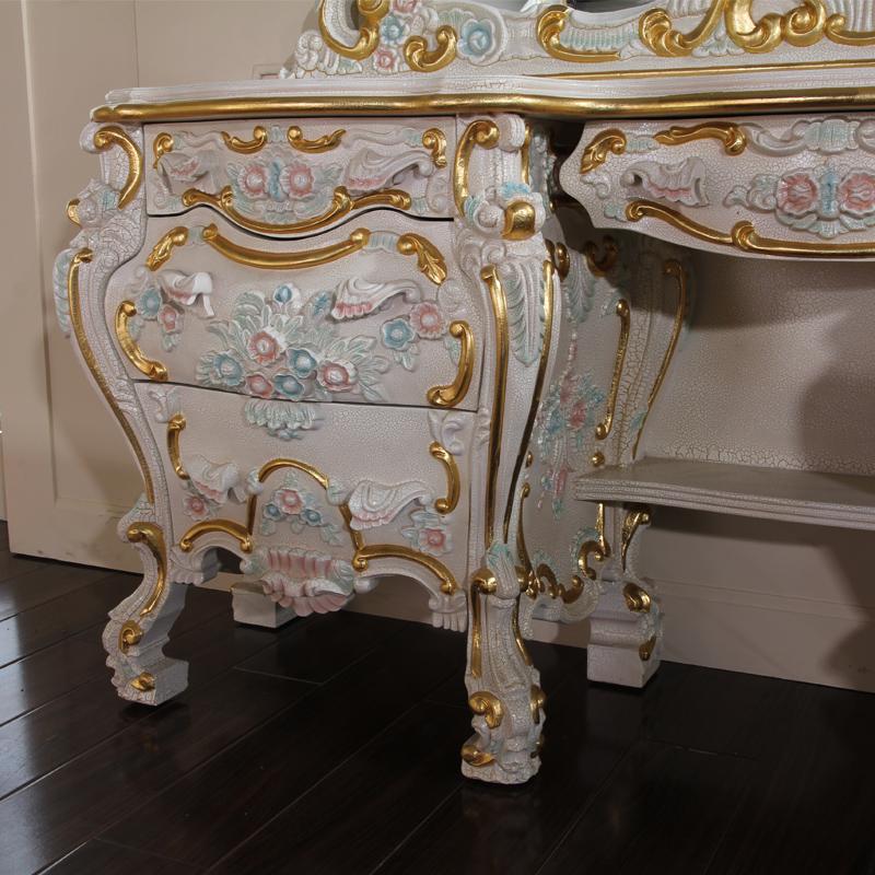 Antique meubles coiffeuse italie style de luxe classique for Meuble coiffeuse antique