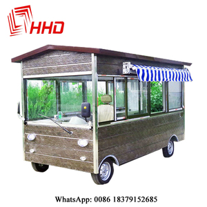 Wooden house type Mobile multi-function vans Customized mobile dining car factory Outlet Special offer