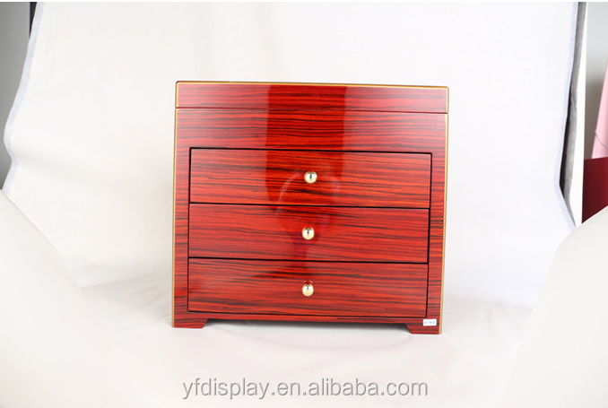 Glossy Finish Wooden Jewellery Collection, Jewellery Wooden Box, High Quality Wood Jewllery Case
