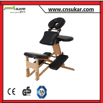 hot sale portable wooden massage chair