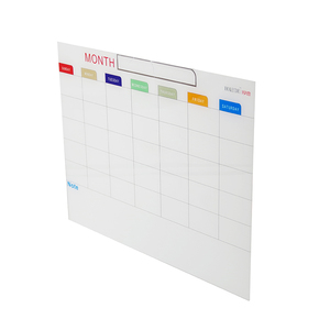Magnetic Tempered Monthly Planner Printing Glass clear White Wipe Message Notice writing board