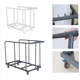 plastic banquet folding table hand trolley suitable for 5ft 6ft rectangle table and round table