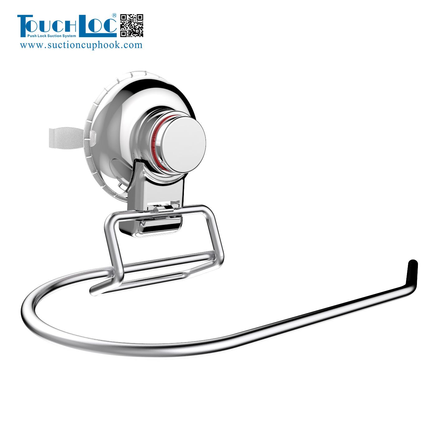 DG-SFC1005 Luxe Badkamer Push te Vergrendelen Wandmontage Rvs Handdoek Ring met Zuignap