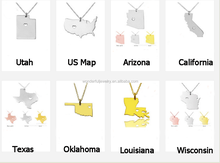 Export To America US Map Charms US Various States Map Pendant Native Place Pendant United States Of America Map On Alibaba