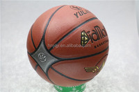 durable indoor 8 panels high school /university 7# pu material basketball