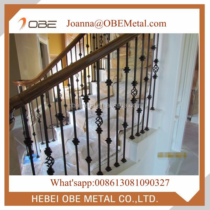 Hot Sale Cheap Iron Balusters Series/ Metal Stair Spindles For Indoor  Staircase