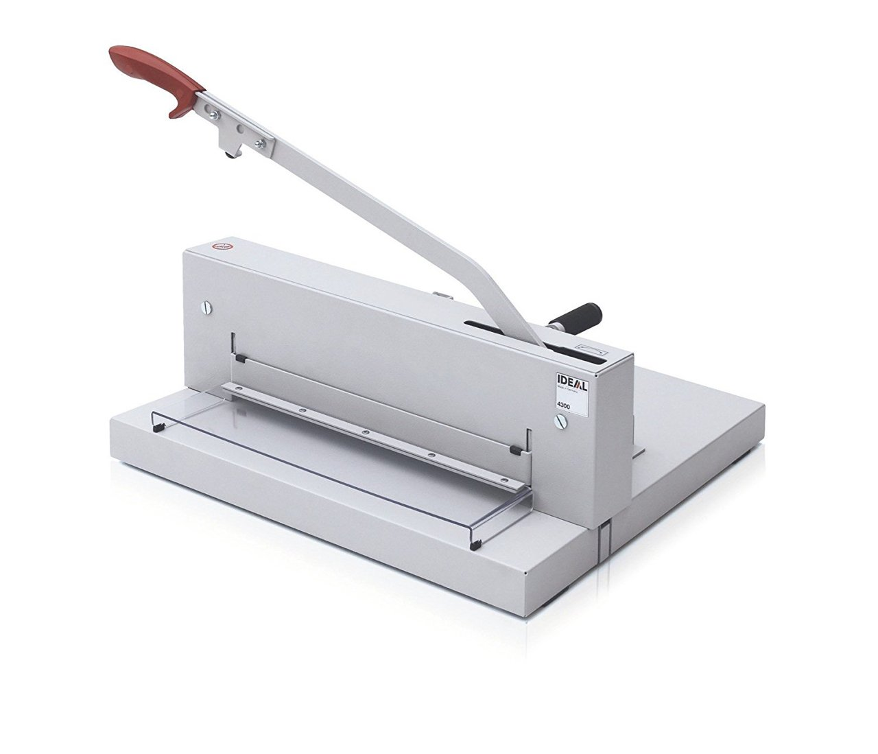 MBM TRIUMPH 4300 MANUAL TABLETOP PAPER CUTTER WITH FAST-ACTION CLAMP AND  SCS SAFETY FEATURE