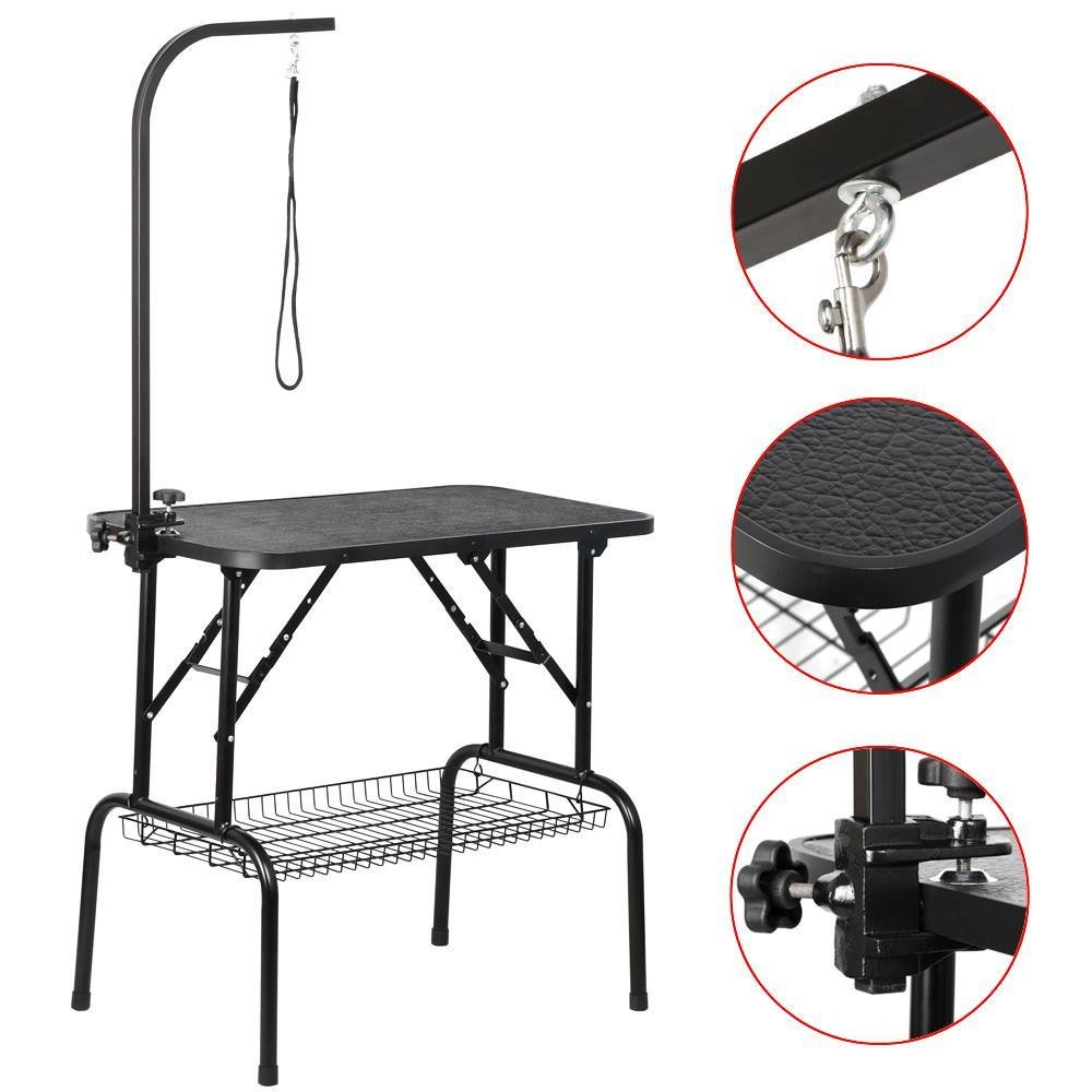 Affordable Dog Grooming Table Arm Get Quotations · Yaheetech Professional Adjustable Portable Dog Pet  Grooming Table W-Arm u0026 Noose u0026 Mesh Tray