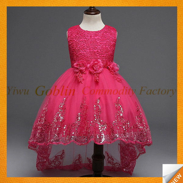 GBJY-744 2017 Trending Products New Design Kids Frock Flower Girl Dress Of 9 Years Old Girls Frock