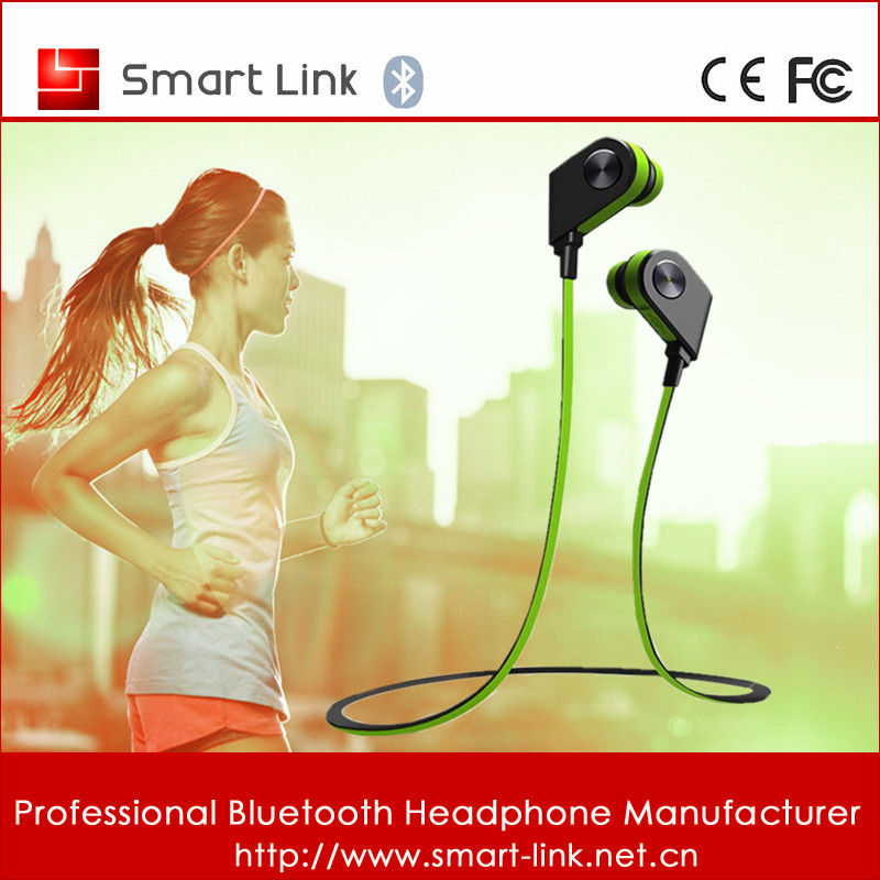 2016 Fashion Magnet Design in ear stereo bluetooth headset sports support all smart phones