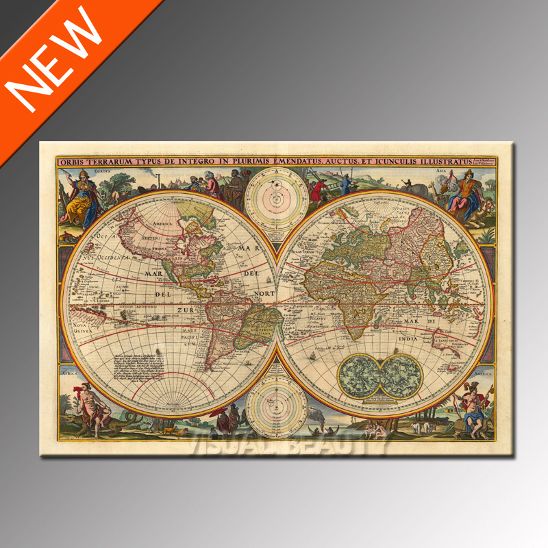 Canvas map prints wall arthanging wall mapfabric world map canvas map prints wall arthanging wall mapfabric world map vintage gumiabroncs Choice Image