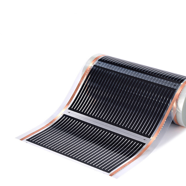 220v 24v Electric heating film carbon underfloor element heating mat in office floor