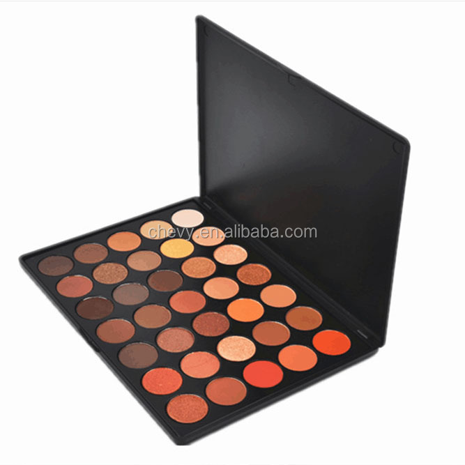 Hot Selling 35 Colors Matte and Pearl Eyeshadow Palette OEM