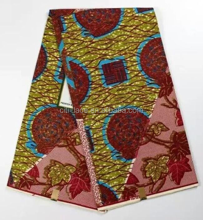 H482 new holland veritable high quality Wholesale african flower fabric hollandais 6 yards block prints