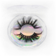 25mm mink eyelashes dramatic long cross diamond round box 3d mink lashes