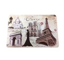 REACH standard Double-side impressão placemat Estilo Paris