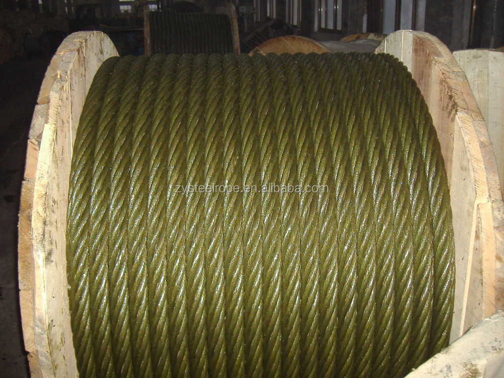 thick wire cable steel wire supplier 6*7+FC 35MM