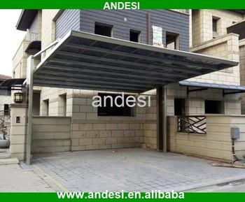 Hot sale 2 car metal cantilever carport design buy 2 car for Car porch roof design