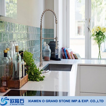 Man-made Pearl White Stone Kitchen Countertop Quartz Slab