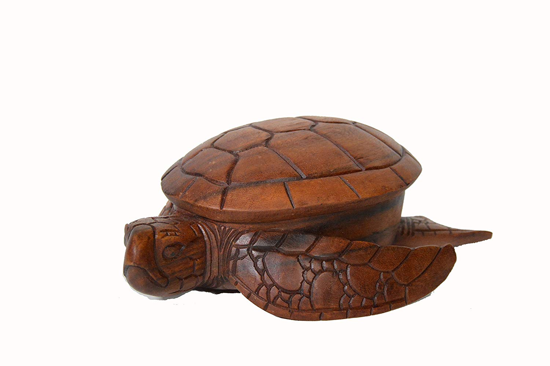 Huge Extra Large Hand Carved Mahogany Wood Nautical Turtle Bowl