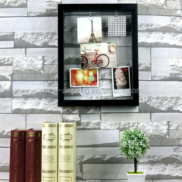 decoracion fiesta foto del marco de bricolaje colgante plateado clips de fotos p chimenea