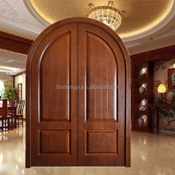 Foshan Manufacturer Solid Wood Arched Double Entry Door For Sales Buy Arched Double Entry Doors Wood Doorsached Wood Doorsolid Wood Arched Double