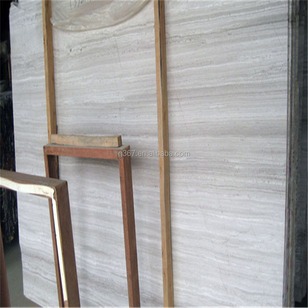 Vietnam polished white wood vein marble sale white marble slab