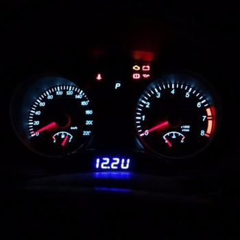 4bdf538f25c3 Nueva multifunción negro 12 V LED luminoso Digital de coche reloj de  escritorio del voltímetro del